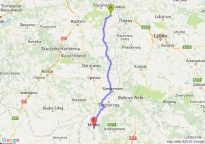 Trasa Bąkowiec - Mielec