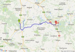 Trasa Warlubie - Olsztynek