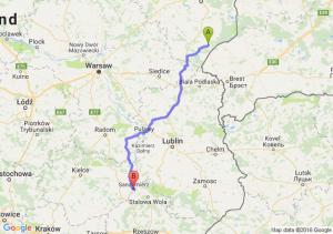 Kleszczele (podlaskie) - Sandomierz (świętokrzyskie)