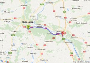 Trasa Brzoza (koło Bydgoszczy) - Brzoza (koło Torunia)