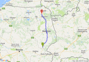 Trasa Siemiatycze - Raczki