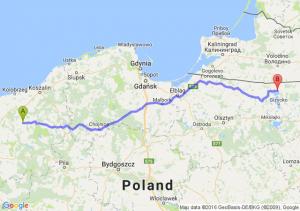 Świdwin (zachodniopomorskie) - Węgorzewo (warmińsko-mazurskie)