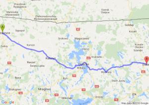 Bartoszyce (warmińsko-mazurskie) - Olecko (warmińsko-mazurskie)
