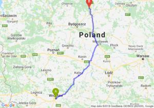 Trasa Wrocław - Warlubie