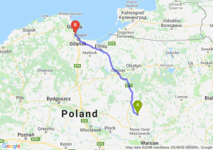 Trasa Ciechanów - Sopot