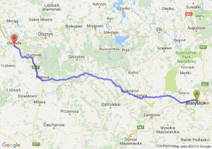 Choroszcz (podlaskie) - Ostróda (warmińsko-mazurskie)