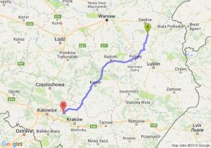 Łuków (lubelskie) - Olkusz (małopolskie)