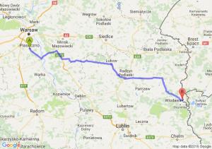 Piaseczno (mazowieckie) - Włodawa (lubelskie)