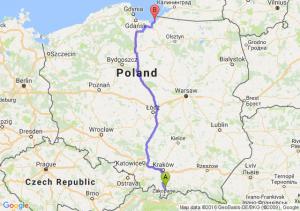 Nowy Targ (małopolskie) - Tolkmicko (warmińsko-mazurskie)