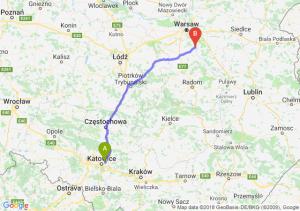 Trasa Sosnowiec - Góra Kalwaria