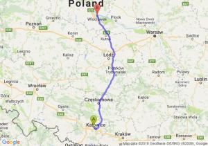 Trasa Chorzów - Włocławek