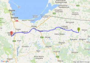 Reszel (warmińsko-mazurskie) - Starogard Gdański (pomorskie)