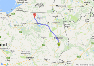 Trasa Bielsk Podlaski - Kętrzyn