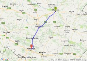 Trasa Warszawa - Czeladź