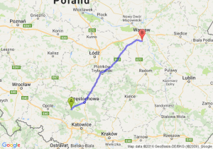 Lubliniec (śląskie) - Piaseczno (mazowieckie)