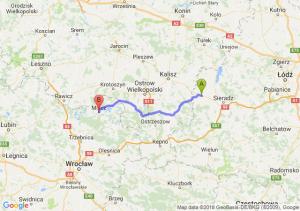 Trasa Błaszki - Milicz