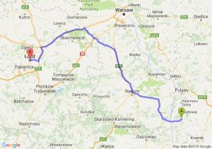 Opole Lubelskie (lubelskie) - Łódź (łódzkie)