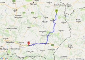Parczew (lubelskie) - Brzesko (małopolskie)