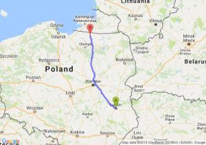 Trasa Lublin - Bartoszyce