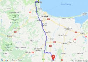 Trasa Gdynia - Gniew