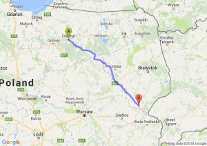 Trasa Olsztyn - Siemiatycze