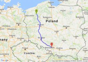 Trasa Czaplinek - Gliwice