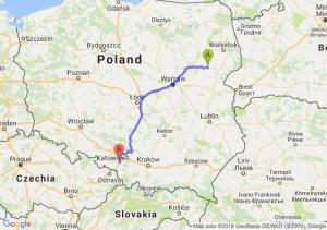 Trasa Ciechanowiec - Czerwionka-Leszczyny