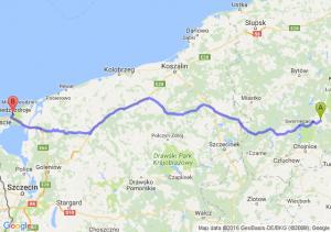 Brusy (pomorskie) - Międzyzdroje (zachodniopomorskie)