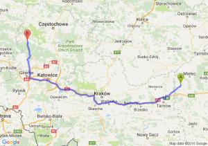 Radomyśl Wielki (podkarpackie) - Lubliniec (śląskie)