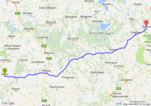 Rypin (kujawsko-pomorskie) - Rajgród (podlaskie)