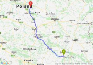 Trasa Tarnobrzeg - Lipno