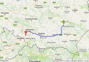 Trasa Tarnobrzeg - Żory