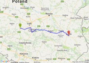 Trasa Sieradz - Lublin