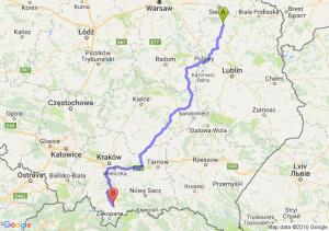 Łuków (lubelskie) - Nowy Targ (małopolskie)