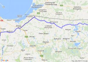 Gołdap (warmińsko-mazurskie) - Skórcz (pomorskie)