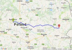 Trasa Brzoza (koło Bydgoszczy) - Ciechanowiec