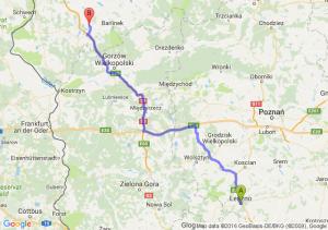Leszno (wielkopolskie) - Lipiany (zachodniopomorskie)