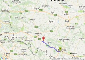 Ruda Śląska (śląskie) - Olszanka (opolskie)