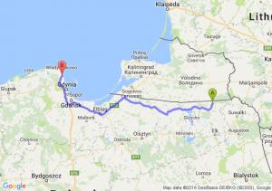Gołdap (warmińsko-mazurskie) - Puck (pomorskie)