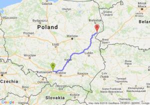 Trasa Dąbrowa Górnicza - Kleszczele