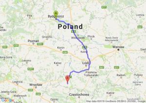 Trasa Bydgoszcz - Wieluń