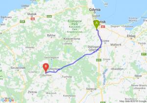 Trasa Straszyn - Człuchów