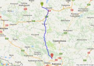 Trasa Błaszki - Tarnowskie Góry