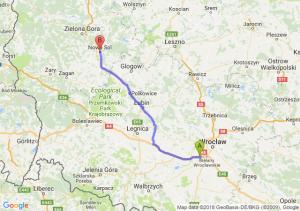 Trasa Biskupice Podgórne - Nowa Sól
