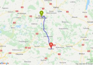 Trasa Ostrów Wielkopolski - Kępno