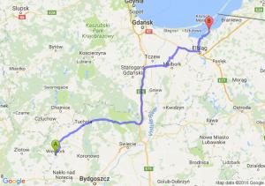Więcbork (kujawsko-pomorskie) - Tolkmicko (warmińsko-mazurskie)