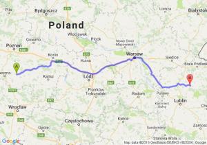 Gostyń (wielkopolskie) - Parczew (lubelskie)