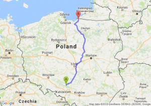 Trasa Lubliniec - Braniewo