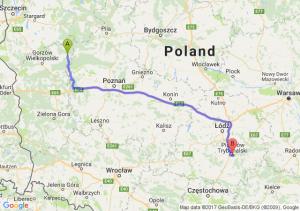 Trasa Drezdenko - Piotrków Trybunalski