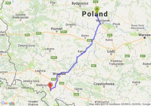 Trasa Ciechocinek - Bielawa